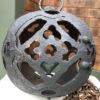 """Moon Form"" Garden Ball Lantern With 84 Inch Chain"