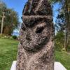 Carved Limestone Human Effigy Sculpture