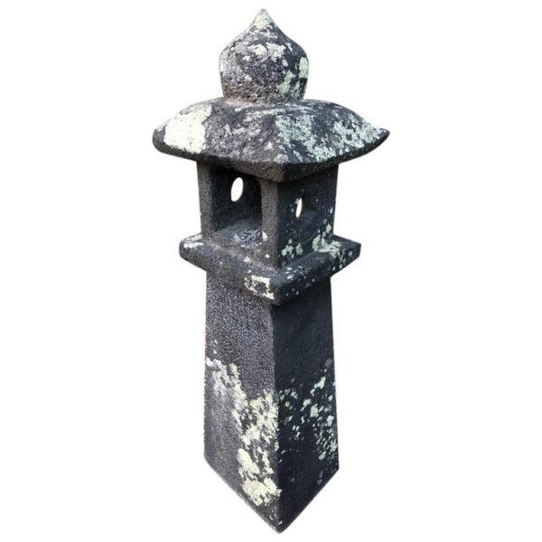 "Antique ""Arts & Crafts"" Stone Pathway Lantern"
