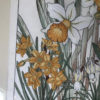 "Framed Woodblock Antique Flower Print ""Daffodils"""