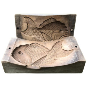 """Cherry Wood """"Fish"""" Mold- rare collectible"""