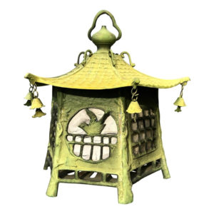 "Antique Cast Bronze ""Birds Birds"" Lantern Extraordinary Details"