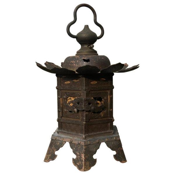 """Antique """"Mini"""" Lantern with Double Doors, Scarce Size, Fine Details"""