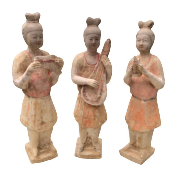 Old Painted Musicians Trio, Ancient Tang Dynasty Style