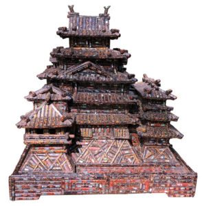 Stunning Black Lacquer Castle, Wakasa Masterpiece