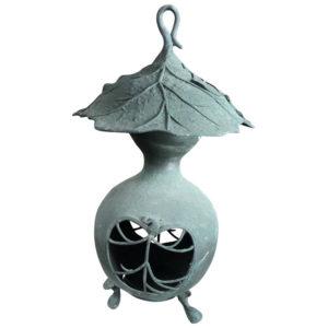 "Bronze Art Nouveau ""Organic Gourd"" Lantern"