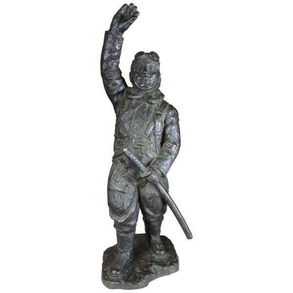 "WWII Bronze Samurai ""Komikaze"" Pilot, Signed"