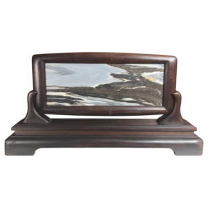 "Natural ""Mountain Waters Painting"" with Handsome Custom Frame"