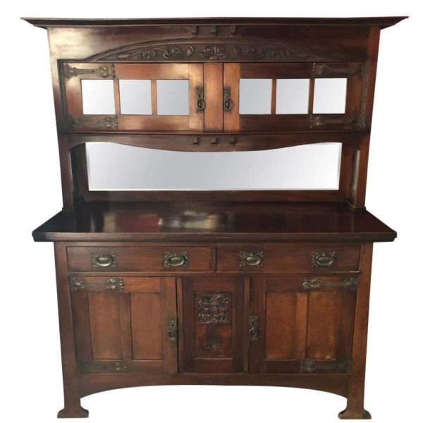 Arts & Crafts English Mahogany Cabinet