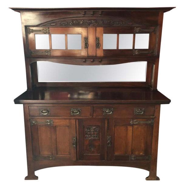 Arts & Crafts English Mahogany Cabinet