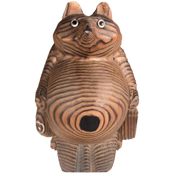 Handmade Hand Carved Folk Art Tanuki