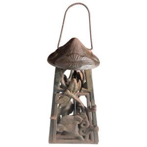 "Art Nouveau ""DRAGONFLY & ORCHID"" Garden Flower Lantern"