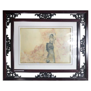 "Lady in Pink Extraordinary Natural Stone ""Painting"""