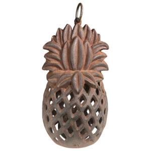 "Antique ""Pineapple"" Welcoming Flower Garden Lantern"
