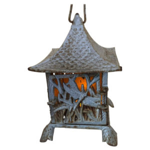 "Japanese ""DRAGONFLY"" Silver Hand Cast Lantern"