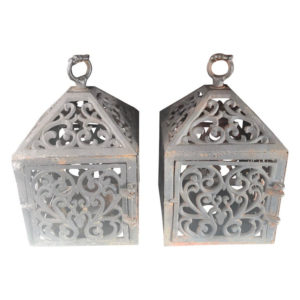 "Old Pair "" TOWN HOUSE"" Architectural Garden Lanterns"