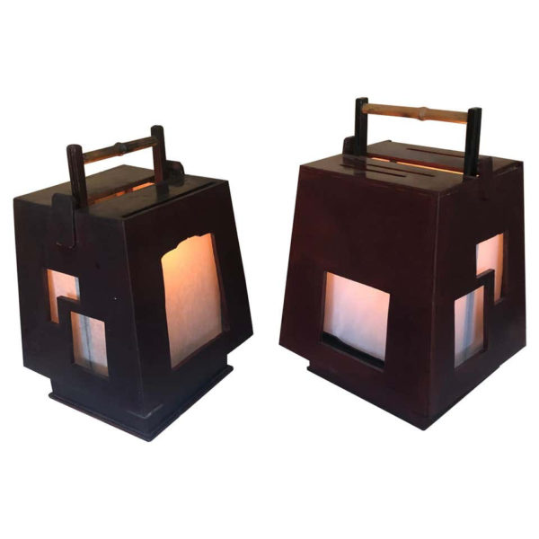 Pair of Andon Lamps Lighting 1880