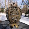"""Antique Gilt """"Openwork"""" Temple Lantern"""