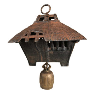 "Large Old ""MOUNTAIN MINKA CABIN"" Lantern and Wind Chime"