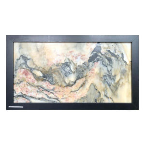 """RED FLOWERS VISTA Natural Stone """"Painting"""""""