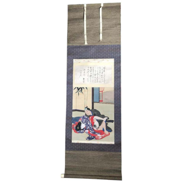 "Fine and Rare ""Shunga"" Hanging Scroll"