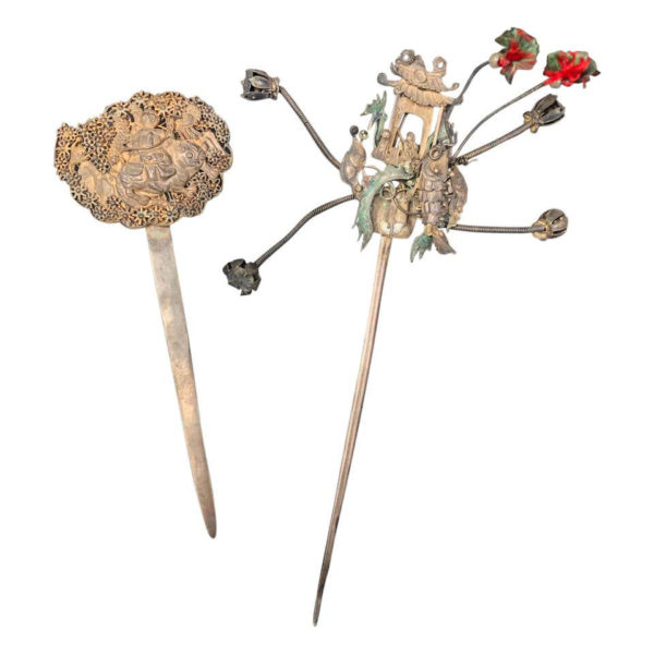 Qing Dynasty Filigree Hair Pins