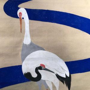 Brilliant Cranes Scroll by Hakorai