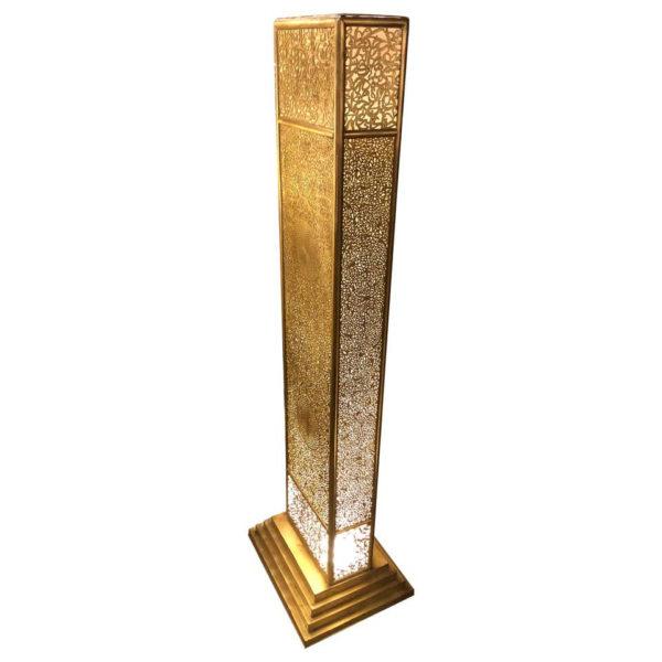 "Artisan Arts & Crafts Handcrafted Floor Lamp ""Tower Of Light"""