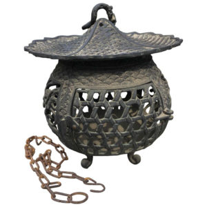 "Antique Bronze ""Basket Weave"" Garden Lantern"
