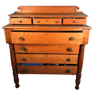 """""""Birdseye Maple"""" Hand Made Chest of Drawers, Signed"""