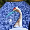 Antique Blue & White Crane Vases