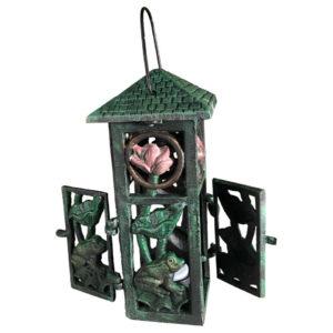 """Japanese """"Frog & Lotus"""" Garden Lantern"""
