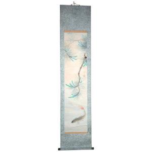 Koi Family Antique Scroll