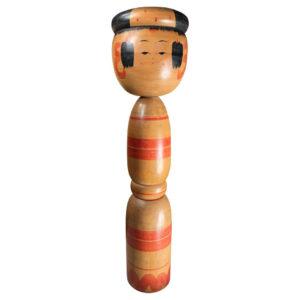 Extraordinary Tall Hand-Carved Kokeshi Doll