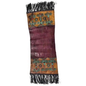 "Tuareg Handcrafted Leather ""Camel Eye"" Runner & Rug from Old African Desert"