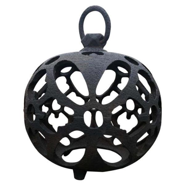 """Antique """"Butterfly Wings"""" Globe Lantern"""