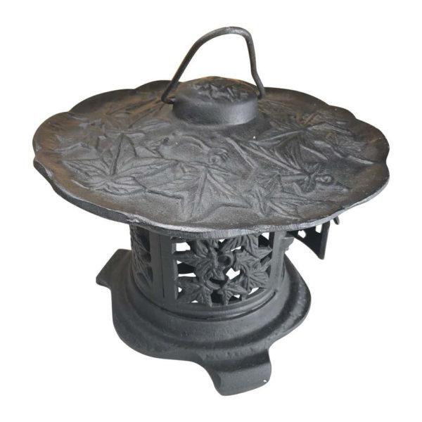 """Japanese Fine """"Maple Leaf"""" Flower Garden Lantern"""