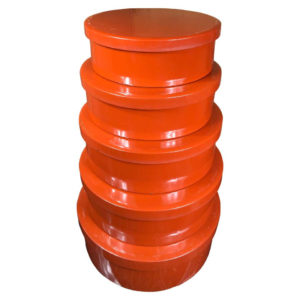 Stack Red Lacquer Storage Bowls