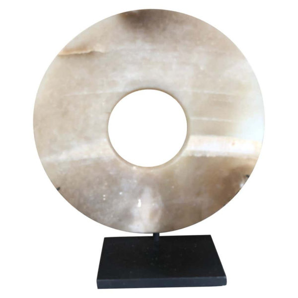 Ancient Superb Chinese Round Jade Bi Disc