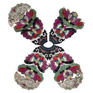 China Antique Vibrant Colors Handmade Vest Textile