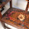 """Romantic Family"" Arts & Crafts Wood Settle Rhode Island"
