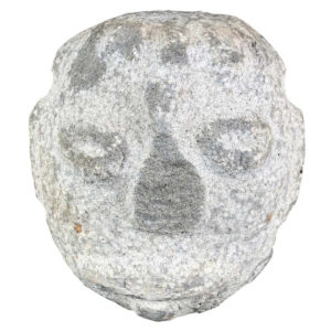 Native America Antique Hand Carved Granite Human Head