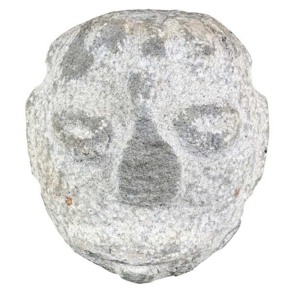 Native America Antique Hand Carved Granite Human Head