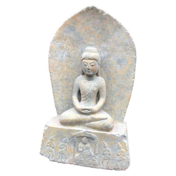 Old Garden Stone Guan Yin Buddha