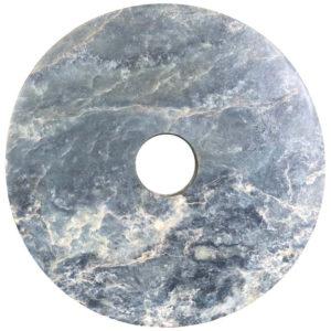 Chinese Fine Ancient Large Round Jade Bi Disc, 2000 BCE