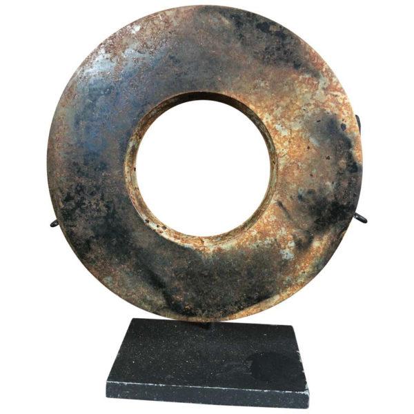 Ancient Chinese Russet Jade Ring Bi Disc