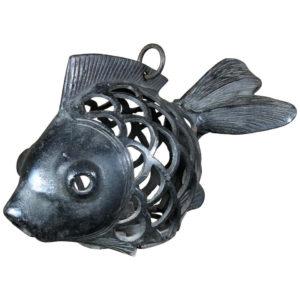 """Japanese Big Old """"Koi"""" Fish Lighting Lantern"""