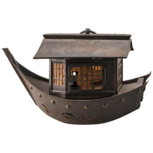 "Japanese Antique Lantern ""Treasure Fortune Ship"" Takarabune 19th century"