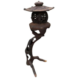 "Japanese Fine Antique ""Tree"" Tea Garden Lantern, Natural and Early Form"