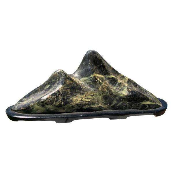 """Twin Peaks"" Mountain Scholar Rock, Natural Bonsai Suiseki"